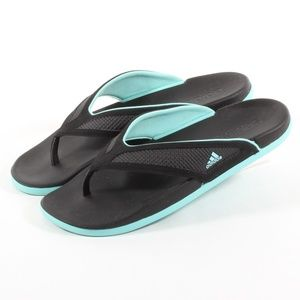Womens Adidas Flip Flop Thong Sandals Black Size 7